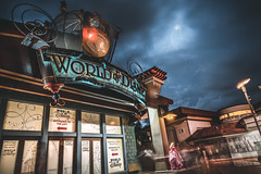 Storm Over WOD Disney Springs (jimisPHOTOS) Tags: disney disneyworld waltdisneyworld wideangle wdw wide storm lightning shopping travel themepark themeparks traveling tone orlando