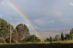 Rainbow (Rckr88) Tags: rainbow rainbows clarens freestate southafrica free state south africa rain sky skies nature outdoors travel travelling greenery green grass trees tree