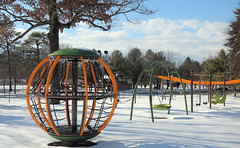 Cook Park in the Winter (hbickel) Tags: snow trees ornaments clouds cookpark canont6i canon photoaday pad