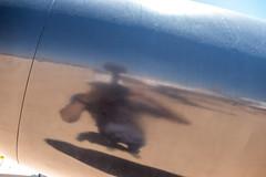 Photographer's Reflection off Jet Aircraft Metal (Serendigity) Tags: arizona pima pimaairspacemuseum tucson usa unitedstates aircraft aluminium aviation desert jet museum outdoors reflection skin unitedstatesofamerica