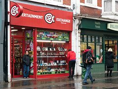 We Buy Stuff (stevedexteruk) Tags: shop secondhand store window wales adarestreet street bridgend 2019 buy sell 4x3 entertainmentexchange exchange entertainment phone gaming webuy