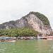 Ao Phang Nga, Ko Panyi, Limestone Cliff, Long-tail Boat, Sea & Ocean, Thailand, Jan 2019