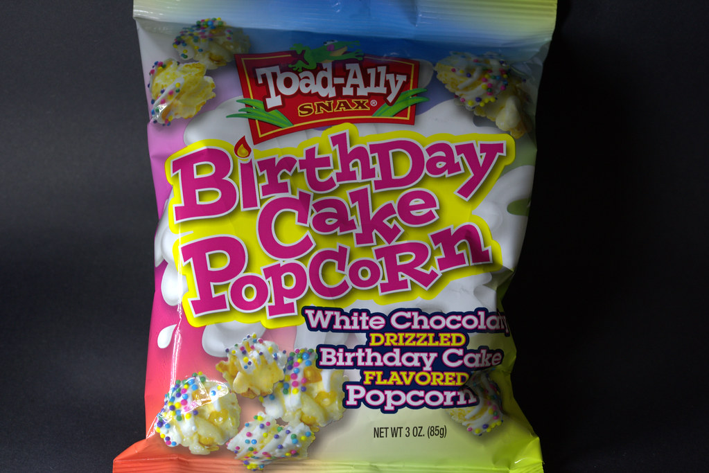 Toad Ally Birthday Cake Popcorn Tony Worrall Tags Packet Wrapped Package Add
