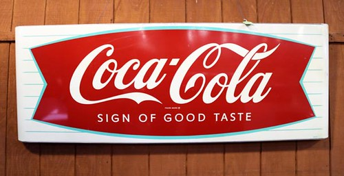 Coca Cola Metal Lithograph Sign ($840)