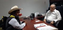 Con el Suplente del Presidente de San Pablo 4 Venados, Filiberto Luis López nuestro coordinador Heliodoro_hcde trabaja para reforzar acciones en materia de ProtecciónCivil en ese municipio de los Valles Centrales