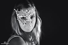 White Mask (einhundertstel.eu) Tags: bnw blackandwhite bw white girl woman mask portrait hair