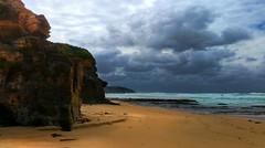 Rennies beach I (elphweb) Tags: hdr highdynamicrange nsw australia coast coastal sea ocean water beach seaside clouds cloudy skies sky waves
