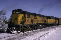 One Time I'd Rather Had Something Besides a C628 Leader (ac1756) Tags: cnw chicagonorthwestern northwestern alco c628 6718 escanaba michigan