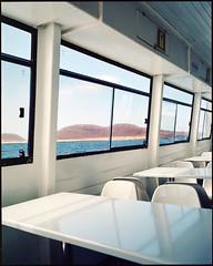 Cruisin again. To la Graciosa, Lanzarote (AntoineLegond) Tags: landscape volcano island lagraciosa cruising boat mamiya7ii 65mm kodak portra400 film analogue lanzarote spain