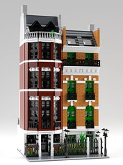 Upper East Side Modular (aukbricks) Tags: lego moc legomoc afol afolsweden architecture legoarchitecture design modular legomodular halfmodular townhouse uppereastside manhattan newyork legodigitaldesigner ldd mecabricks blender render rendering computerrendering