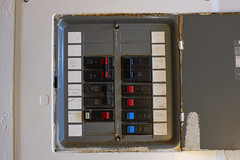 Breaker Box (Curtis Gregory Perry) Tags: breaker box motel fuse switch electric electrical electricity nikon d810