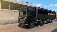 Black Gun (black_moloko) Tags: ets2 scania nextgeneration schwarzmueller dirt truck siawego