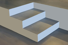 Grey steps (on Explore) (Jan van der Wolf) Tags: map192410vvv grey grijs steps treden stairs staircase stairway trap minimalism minimalistic minimalisme minimal