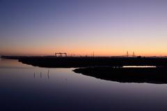 Incoming night... (Raquel Borrrero) Tags: longexposure san pedro landscspe river city lights twilight