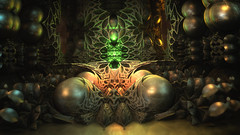 Wellcome to Hell (eXalk) Tags: art abstract hell steel digital dark deep dream fantasy fractal mandelbulb3d sphere ball