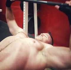 Bench press (ddman_70) Tags: shirtless abs pecs muscle workout gym chest benchpress