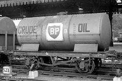 c.1964 - York. (53A Models) Tags: britishrailways bp crudeoil 12t tankwagon goodswagon freightcar york train railway locomotive railroad