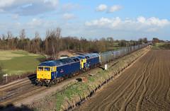 47815 + 47843 Whitley Bridge 2/3/15 (Ram 69) Tags: 47815 47843 whitleybridgejunction class47