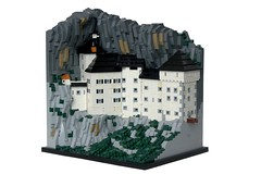 Predjama Castle (-soccerkid6) Tags: lego moc creation model architecture marchitecture castle predjama scale replica landscape cliff rockwork design technique micro microscale