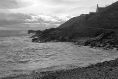 Cliffs,Collieston_Mar 19_517 (Alan Longmuir.) Tags: monochrome grampian aberdeenshire collieston cliffs