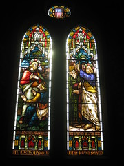 The John Kane Smyth Memorial Window by Ferguson and Urie; the Former Saint George's Presbyterian Church - Chapel Street, St Kilda East (raaen99) Tags: fergusonandurie fergusonanduriestainedglass fergusonurie fergusonuriestainedglass jesus malesaint johnkanesmyth johnkanesmythmemorial johnkanesmythmemorialwindow american starsandstripes americanflag victorianstainedglass nineteenthcenturystainedglass 1890s 1880s saintgeorgespresbyterianchurch saintgeorgesunitingchurch saintgeorgeschurch saintgeorgesstkildaeast saintgeorgeseaststkilda stgeorgespresbyterianchurch stgeorgesunitingchurch stgeorgeschurch stgeorgesstkildaeast stgeorgeseaststkilda unitingchurch presbyterianchurch presbyterian eaststkilda stkildaeast chapelstreet chapelst church placeofworship religion religiousbuilding religious melbourne nineteenthcentury victorian victoriana 19thcentury victoria australia gothicrevivalarchitecture gothicarchitecture gothicrevivalchurch gothicchurch gothicbuilding gothicrevivalbuilding ecclesiastical gothicrevivalstyle gothicstyle architecturallydesigned albertpurchas architecture building window stainedglass stainedglasswindow lancet lancetwindow detail bible biblical quote biblicalquote lifeofjesus settlementaboutthetributemoney interviewwiththerichyoungruler