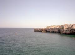 Polignano a Mare, Italy. (wojszyca) Tags: fuji gsw680iii 6x8 120 mediumformat fujinon sw 65mm kodak ektar 100 epson v800 landscape seascape sea coast town italy