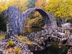 The Rakotz Bridge of basalt stones in the Kromlauer Park (Ostseetroll) Tags: deu deutschland geo:lat=5153609401 geo:lon=1464057304 geotagged kromlau rakotzbrücke sachsen olympus em5markii bridge