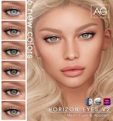 Horizon Eyes V2 (Avi-Glam) Tags: aviglam ag sl second life mesh omega catwa genus appliers