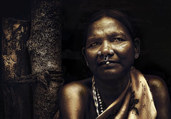 Tribal woman .. (tchakladerphotography) Tags: portrait woman character monochrome incredibleindia tribal