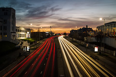 (iMalik1) Tags: longexposure lightrail sunsetoftheday nighttime londonphotographer london streetphotography potd motionblur sunsetsky urbanlandscapes light motorway lightrails cars sunset photooftheday ndfilter