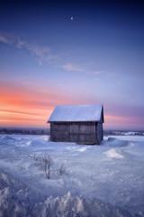 Lever du jour en hiver au Saguenay (gaudreaultnormand) Tags: bleu calme canada froid janvier leverdesoleil lune matin paysage quebec saguenay sunrise neige ciel