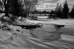 Biotar 2/58mm (Vladimir Gazoukin) Tags: canada country city barrie vladimirgazoukin bw lake simcoe sky trees waterfront