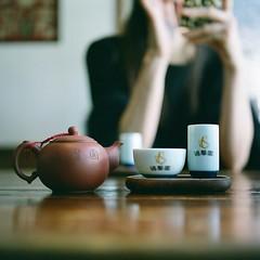 Taiwanese tea house (Saori_) Tags: 台湾茶 茶藝 台北 台湾 ローライフレックス ローライ フィルム 120 rolleiflex film taiwanesetea tea taipei taiwan