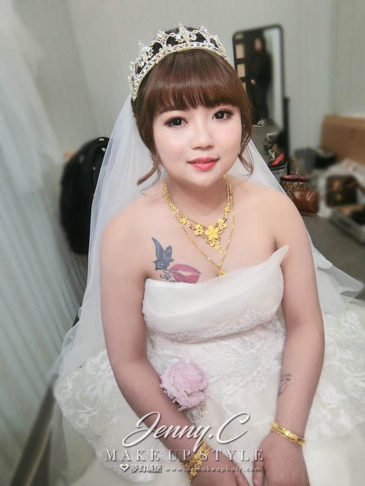 【新秘蓁妮】bride綠綠 訂結婚造型 /和美新統意饗宴