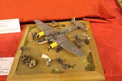 Messerschmitt Me-110 - 1/32 (CHRISTOPHE CHAMPAGNE) Tags: 2019 belgique exposition maquette roselie fele maquettisme messerschmitt bf110 132