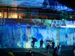 Light up Poole 2019 (auroradawn61) Tags: lightuppoole lightuppoole2019 digitallightartfestival afterdark night poole dorset uk england february 2019 lumixgx80 umbrellas dolphinquays theweathermachine