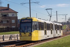 Manchester Metrolink 3115 (Mike McNiven) Tags: manchester metrolink tram metro lightrail lrv baguley manchesterairport airport victoria marketstreet southmoorroad hollyhedgeroad