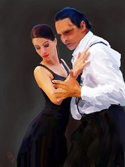 The Beautiful Tango Dancer (Pat McDonald) Tags: renemayorga argentina bailaora bailar bale ballerina ballet ballo beauty digitalart danse dans dance buenosaires bsas gitana gitano guapa guapísima italy pixabay porteño porteña tango