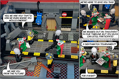 The Monday Deathmatch Tournament - Page 12 - Space Police part 3 (Aliencat!) Tags: lego comic space police squidman