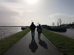 Silhouettes and Shadows (mcginley2012) Tags: silhouette shadow huaweip20pro galway people cameraphone photographer claddagh tree rivercorrib