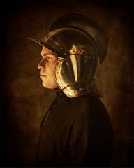The Conquistador (Repp1) Tags: aldergrove bc canada larp langley cosplay medieval painterly chiaroscuro dark sombre conquistador hellmet casque warrior guerrière