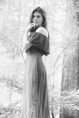 Rosalie in FOG b w (tim.lee Rookie Photograph) Tags: rosalie model foggy timleerookie timlee nikon wood fog natur nikon7100 nationalpark girl tree trees teen