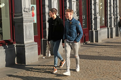Dam - Amsterdam (Netherlands) (Meteorry) Tags: europe nederland netherlands holland paysbas noordholland amsterdam amsterdampeople candid streetscene people center centre centrum dam square boys guys male hommes cute teens twinks hunks jeans skinnyjeans young urban city sneakers baskets trainers skets nike nikeairmax1 bomberjack dutch hm february 2019 meteorry