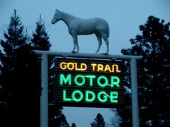 Gold Trail Motor Lodge neon sign (Mitch O) Tags: sign california placerville neonsign