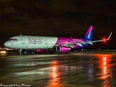Wizz Air HA-LTA HAJ at Night (U. Heinze) Tags: aircraft airlines airways airplane planespotting plane flugzeug night nightshot haj hannoverlangenhagenairporthaj eddv olympus omd