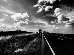 StraightRoad.jpg (Klaus Ressmann) Tags: klaus ressmann omd em1 autumn eavila landscape sky blackandwhite clouds contrast design flcnat road klausressmann omdem1