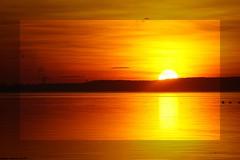 Orange ... Juste Avant De Disparaître ... (SabineLacombe) Tags: orange etang etangdeberre paca provence ciel soleil suddelafrance coucherdesoleil bouchesdurhone