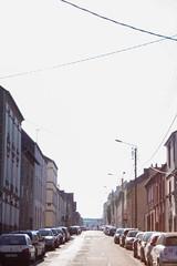 My town (ceceldvc) Tags: town street lights light sun morning sunrise city rennes middleofthestreet middleoftheroad photography canon 1835 lightroom love orangelights