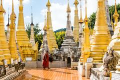 Stupas of the Shwe Inn Dein Pagoda (Laszlo Horvath.) Tags: burma myanmar nikond7100 sigma1835mmf18art church buddhism inlelake stupas shwe inn dein pagoda indein