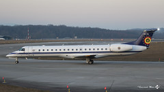 Embraer ERJ-145LR, Belgian Air Force, CE-03 (maxguenat) Tags: avion spotting cointrin embraer erj145 belgianairforce ce03